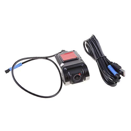YU-HELLO _Coche Oculto Visión nocturna USB Grabadora de conducción Grabadora en bucle ADAS 1080P Dash Cam