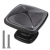 キャビネットノブ4個クリスタルガラスプルハンドル黒 家具のドアまたは引き出しを開く場合