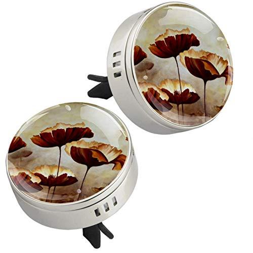 2 camafones con cierre magnético con clip de ventilación, 4 almohadillas de repuesto para aromaterapia para coche, 2 unidades
