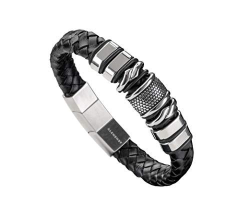 Herren Leder Armband mit Magnetverschluss 20+1.4cm
