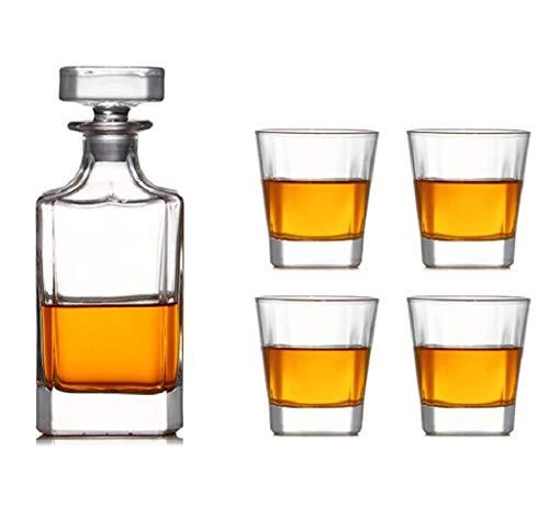 YYCDD Verre à vin Whisky, Diamond Cup/Verre en Cristal Coupe/Verre à vin Rouge/Cadeaux en Verre de vin/Europe Carafe/vin Set,5-Set,B