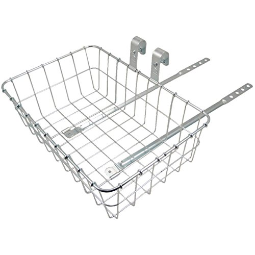 Wald 137 Front Bicycle Basket (15 x 10 x 4.75, Silver)