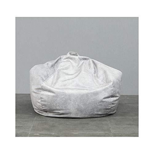 length Bean Bag Lazy Couch Tatami Asiento de Tela Individual Dormitorio Sala de Estar Transpirable Cómodo Cojín Extraíble y Lavable Pequeño Mediano Tamaño Grande (Color : Silver Gray, Size : S)
