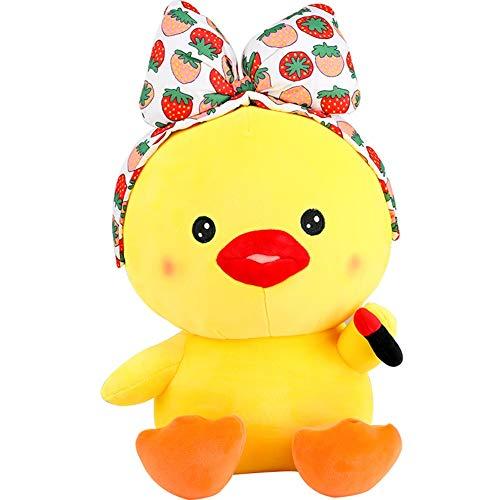 47-B Plüschtiere, Make-up Ente Niedliche Kleine Gelbe Ente Kuscheltier Tierformen, Urlaub, Geschenke (Color : B, Size : 25cm)