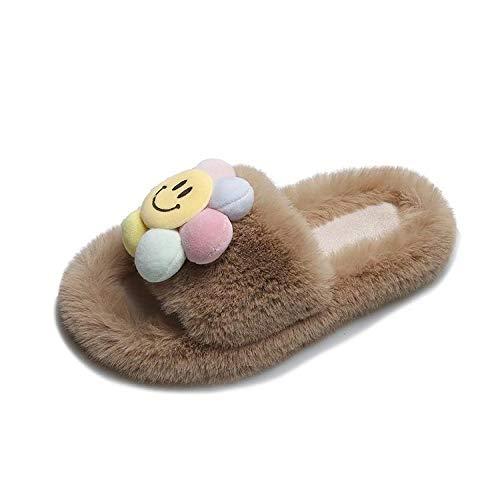 Ling Fengfeiyang Zapatos antideslizantes para el hogar, cómodas y ligeras, zapatillas cómodas, ligeras, 37