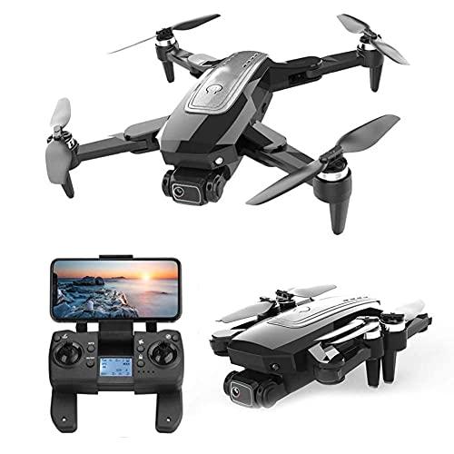 rzoizwko Dron, Dron con luz LED Brillante, GPS RC Quadcopter, Distancia de Control Remoto de 2000M, con 1080P HD WiFi FPV, Modo VR de Soporte, Modo sin Cabeza, Posicionamiento de Flujo óptico