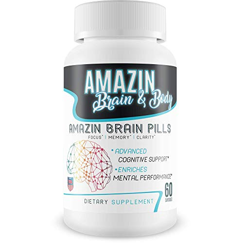 Amazin Brain Pills - Focus - Memory - Clarity - Advanced Cognitive Support - Enriches Mental Performance - Amazin Brain Supplement for Amazin Brain Support - Nootropics Brain Enhancement