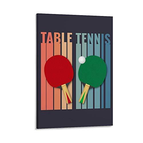 Jiandan TABLE TENNIS - Poster vintage su tela, decorazione da parete, per soggiorno, camera da letto, 50 x 75 cm
