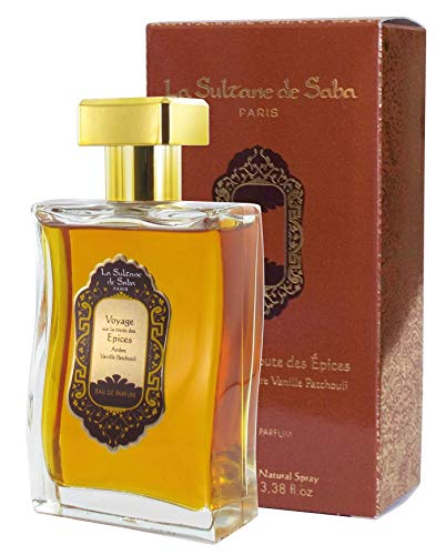 La Sultane de Saba - Eau de parfum Ambre Vanille Patchouli, 100ml - Voyage sur la route des Épices - Traitement ayurvédique