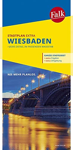Falk Stadtplan Extra Standardfaltung Wiebaden mit Ortsteilen von Eltville: Eppstein, Hochheim a.M., Mainz 1:20 000 (Falk Stadtplan Extra Standardfaltung - Deutschland)