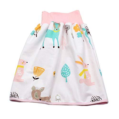 Manyao - Falda de pañal para bebé, pañales antifugas, lavable, falda de entrenamiento, braga de bebé Faon M/2-5 años