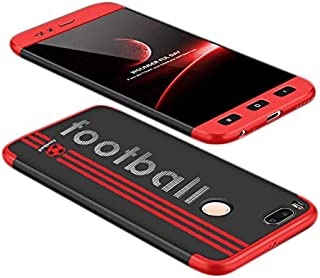 Xiaomi Mi A1 case, Fashion ultra Slim GKK 360 special edition Football 3d printed Full Protection cover Case - Red & Black