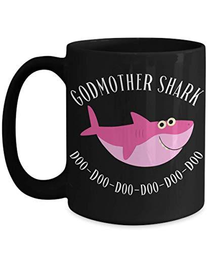 Taza de tiburón madrina de regalos de cumpleaños de ahijado para hadas madrinas regalos para mujeres tazas de café divertidas taza de té regalo de navidad para ella