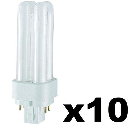 Preisvergleich Produktbild 10x Osram DULUX D / E Energiesparlampe 4PIN - (G24q1) 13W / 840 - hellweiß - 131mm