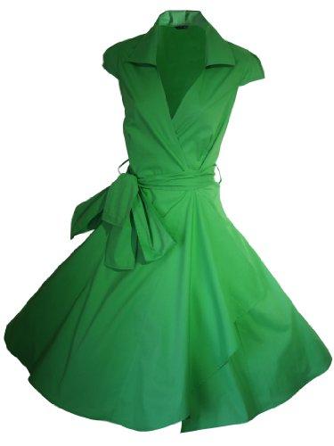look for the stars Vestido de cóctel vintage de los años 50, estilo rockabilly/columpio/pin up de algodón, para fiesta de noche, tallas 4-28