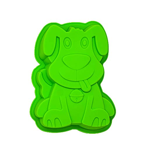 Pup Puppy Dog Silicone Smash Cake Baking Mold | Kids 3D Small Birthday Cake Pan | Animal Shape Chocolate Muffin Jello Tray DIY Mould, 7.87 x 1.57 x 6.5 Inches