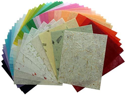 55 Blatt Maulbeerpapier, handgefertigt, Kunstseide, Japanisches Washi-Design, Basteln, Kunst Origami, Kartenherstellung