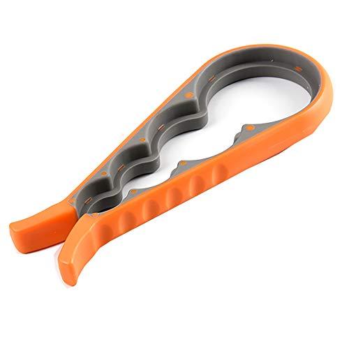 Eco Memos Mehrzweck-Dosen-Canopener-Küchengeräte Mehrzweck-Flaschenöffner Küchenwerkzeug Vier-in-Eins-Dosenöffner Kreativer Öffner Anti-Rutsch-Schrauben-Flaschenverschluss (Arancione)