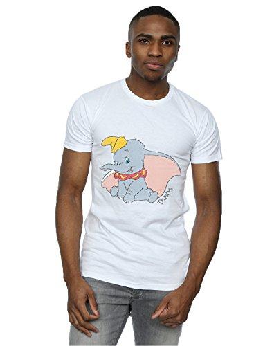 Disney Herren Dumbo Classic Dumbo T-Shirt Large Weiß