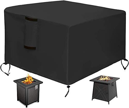 Brazier Cover Square Brazier Table Cover Waterproof Heavy Courtyard Gas Brazier 4 Sizes to Choose from (Square: 30' L x 30' W x 13' H)