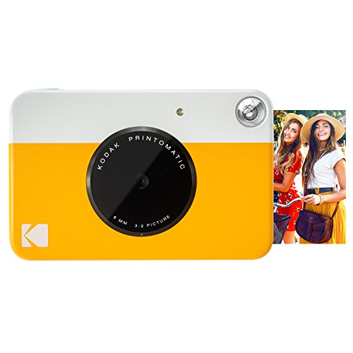 Kodak PRINTOMATIC Digital Instant Print Camera (Yellow), Full Color Prints On ZINK 2x3'...