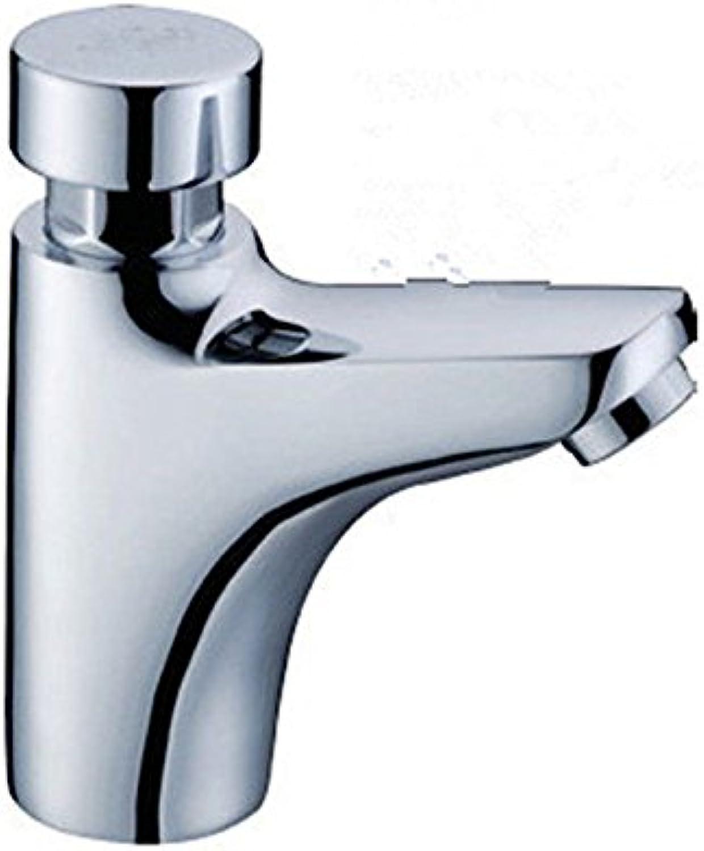 ETERNAL QUALITY Badezimmer Waschbecken Wasserhahn Messing Hahn Waschraum Mischer Mischbatterie Tippen Sie auf die Presse ist voll von Kupfer Waschbecken Wasserhahn Erklt