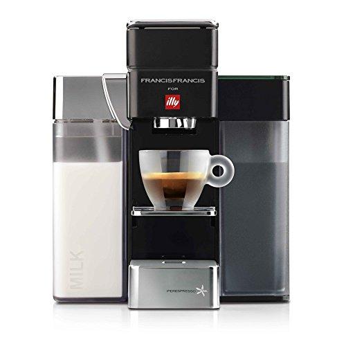 illy Macchina da Caffè a Capsule Iperespresso Y5 Milk Espresso&Coffee, Nero