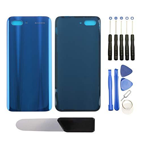 YHX-OU Smartphone Akkufachdeckel, Batterieabdeckung, Rückseite, Back-Cover für Huawei Honor 10 (Blau)