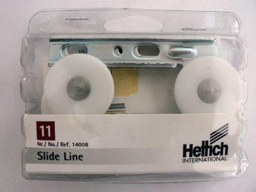 Hettich Slide Line 11, Montagesatz für eine Schiebetür, 1 Satz, Artikelnr. 14008