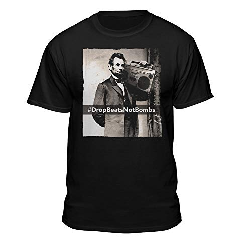 Abe Lincoln Drop Beats Not Bombs Boom Box DJ Hip Hop Freestyle T-Shirt (XX-Large) Black