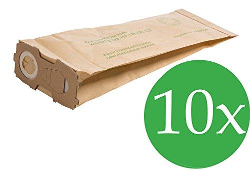10 Staubsaugerbeutel geeignet für Vorwerk Kobold 118 119 120 121 122, mit EXTRA STARKEM FLANSCH (4!! mm)