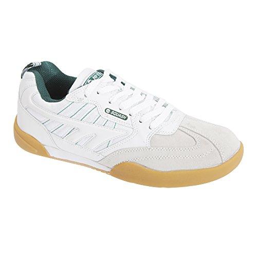 Hi-Tec Zapatillas clásicas Modelo Squash Non Marking Hombre Caballero (46 EU) (Blanco)