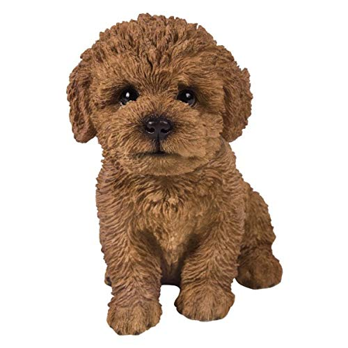 Pacific Giftware PT Realistic Look Statue Brown Bichon Frise Puppy Dog Home Decorative Resin Figurine
