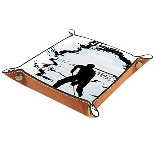 Bandeja de valet de cuero Catchall bandeja de joyería caja de dados bandeja de noche bandeja clave teléfono cambio de moneda relojes y soporte de caramelo Sundries bandeja entrada deportes hockey