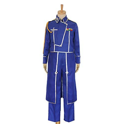 CHANGL Anime Cosplay Roy Mustang Kostüme Militäruniform Anzug Mantel + Hose + Schürze