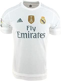 1ª Equipación Real Madrid CF 2015/2016 - Camiseta oficial con la insignia de campeón del mundo para hombre