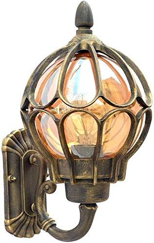 Antiguo Exterior Vaso Apliques de Pared, Vendimia Impermeable Lámpara de Pared Aluminio, Hogar Pasillo Entrada Villa...