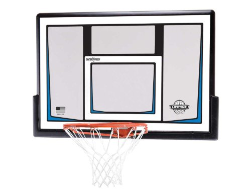 Lifetime 90086 50 Inch Shatterproof Fusion Backboard and Rim Combo Kit