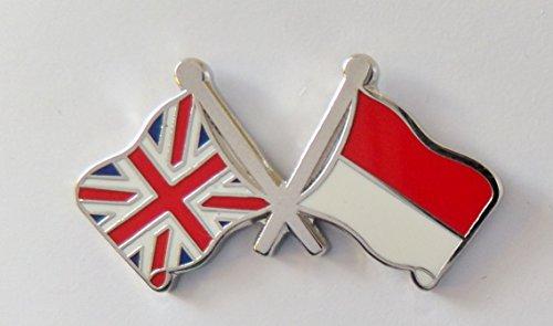 1000 drapeaux indonésiens et drapeau du Royaume-Uni