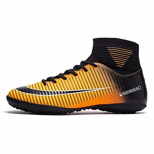 Takyojin Botas de fútbol para Hombre Boy's Fútbol High-Top Spikes Fútbol Zapatos de fútbol niños Zapatos de Entrenamiento de fútbol Zapatillas de Deporte Zapatillas de Competencia Unisex Adolescen