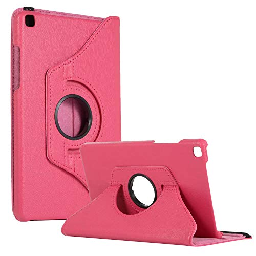 SM-T290 Rotating Case SM-T295 Cover, Galaxy Tab A 8.0 2019 Case, Coopts Slim Anti-Shock Shell 360 Degree Rotating Swivel Typing & Viewing Stand Cover for Samsung Galaxy Tab A8 T290 T295 2019, Rose