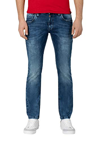 Timezone Herren EduardoTZ Slim Jeans, Blau (White Aged Wash 3201), W38/L32