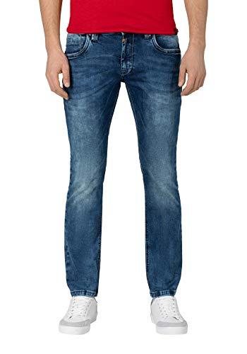 Timezone Slim EduardoTZ Jeans, Blu (White Aged Wash 3201), 50 IT (36W/36L) Uomo