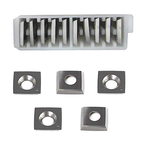 """RTing 15mm Holzbearbeitung Carbide Cutter Einsatz Packung von 10, 6\""""Radius Gesicht R-150mm & Radius Ecke, passt Spiral/Helical Hobel Schneidkopf"""