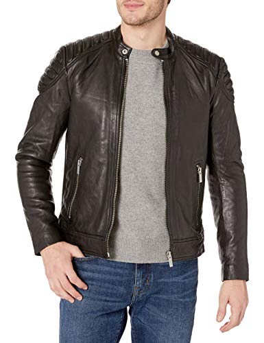 Superdry Men's Leather Jacket, Black, X-Large