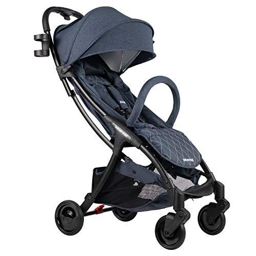 Compact Stroller, Beberoad R2 Ultra Lightweight Stroller (Blue Jeans)