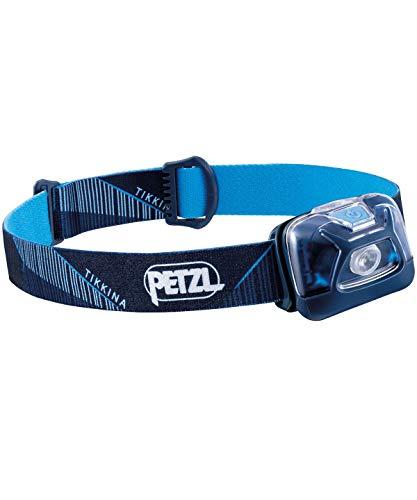 PETZL, TIKKINA Headlamp, 250 Lumens, Standard Lighting, Blue