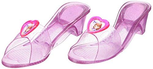 Princesas Disney - Zapatos de Princesa Sofía para niñas, disfraz infantil - Talla 4-6 años (Rubie's 36171)