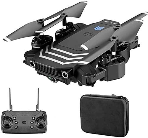 WASHULI Drone con Fotocamera for Adulti 4K HD. Doppia Fotocamera Pieghevole Rc. Drone Quadcopter, Flusso Ottico dell' Elicottero Professionale WiFi FPV. Controllo del Gesto con Batteria 2 *
