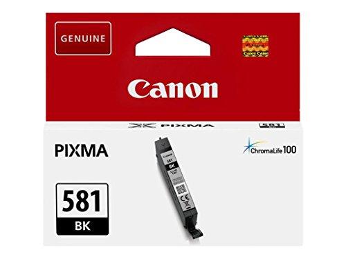 Canon CLI-581 BK Cartucho de tinta original Negro para impresora de inyeccion de tinta PIXMA TS9150, TS6151, TS9155, TS6150, TS8151, TR8550, TR7550, TS8150, TS8152
